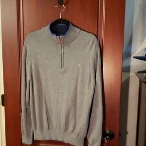Men's gray zip sweater